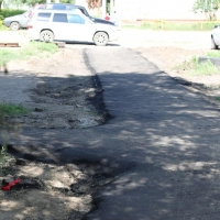 В Омске завершен ремонт 338-ми тротуаров