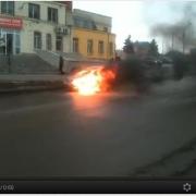 В Омске вчера сгорела иномарка