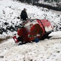 В Омской области перевернулся бензовоз