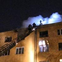 За один вечер в центре Омска загорелись две высотки