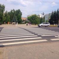 На дорожную разметку из бюджета Омска выделено 9,5 миллионов рублей