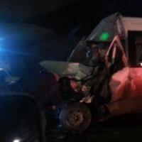 В Омске пассажирская маршрутка попала под КамАЗ