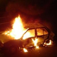 В центре Омска неизвестные подожгли Honda
