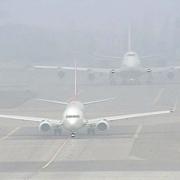 На Омск опустился туман
