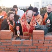 На территории военной части в Омске заложили камень в основание храма