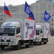 Участник крымского автопробега заглох перед Омском из-за встречного ветра