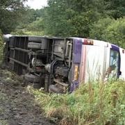 В Прииртышье перевернулся пассажирский автобус