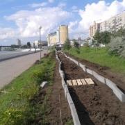 Первую в Омске велодорожку начали строить на Иртышской набережной