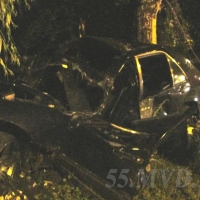 В Омске водитель Mercedes врезался в дерево и погиб