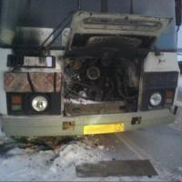 В Омске загорелся автобус 2014 года выпуска