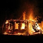 В Омской области сгорел частный дом