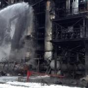 Омское МЧС до вечера устранит последствия пожара на заводе СК