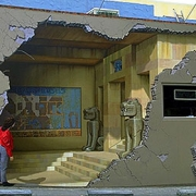 Грабители прошли сквозь стену