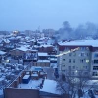 Очевидцы сообщили о пожаре в частном доме на Ледорезной улице
