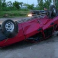 В Омской области водитель попал в ДТП на угнанной машине