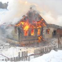 В Омской области при пожаре в частном доме погибли двое маленьких детей