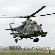 Вертолет ФСБ аварийно приземлился в Москаленском районе