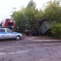 На Красноярском тракте вновь произошла авария с участием КамАЗа
