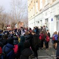 В омской школе сработала пожарная сигнализация