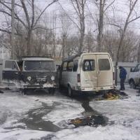 В Омске сгорели три автомобиля