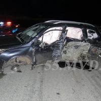 В аварии на автодороге Омск – Черлак пострадали пять человек