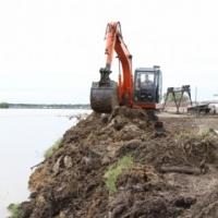 В северных районах Омской области Иртыш отступает от населенных пунктов