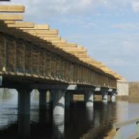 В Омской области открылось движение по мосту через реку Тевриз
