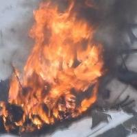 В Омске горел жилой дом