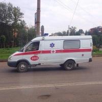В центре Омска горела машина скорой помощи