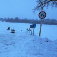 В Омской области открылись две ледовые переправы через Иртыш