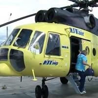 Вертолет МИ-8 за неделю совершил 17 вылетов к пациентам в Омскую область