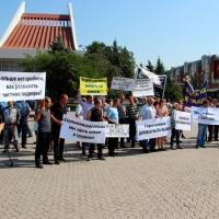 Чума свиней выгнала омских фермеров на митинг