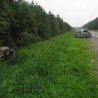 В Омской области пьяный водитель устроил ДТП на трассе