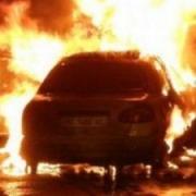 Очередной автомобиль сгорел в Омске