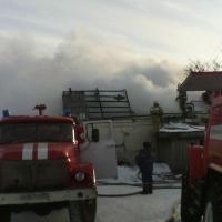 В Омской области горела насосная станция