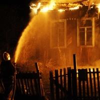В Омской области сгорел хозяин дома