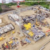 Пресс-служба ХК «Авангард» опубликовала фото со строительства хоккейной академии