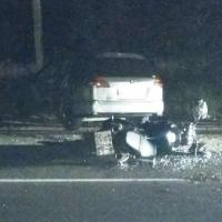 В Омске на Березовой Nissan сбил мотоциклиста