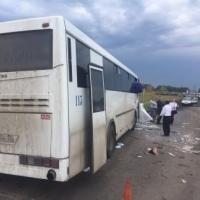 Под Омскомв ДТП с автобусом пострадали пассажиры