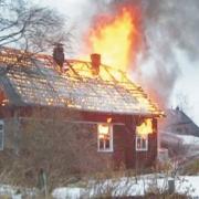 В Омской области произошёл пожар из-за неисправного дымохода