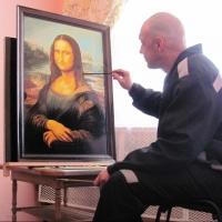 В омской исправительной колонии № 3 один из осужденных нарисовал «Мону Лизу»