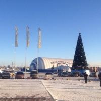К Новому году на Левобережье Омска у ТЦ «Континент» откроется каток