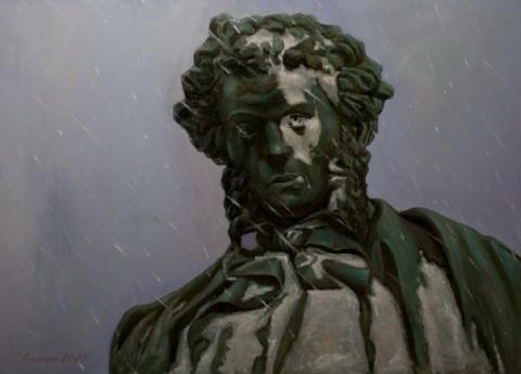 У омского художника грабители украли картины