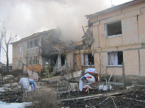 В Омской области произошёл взрыв бытового газа