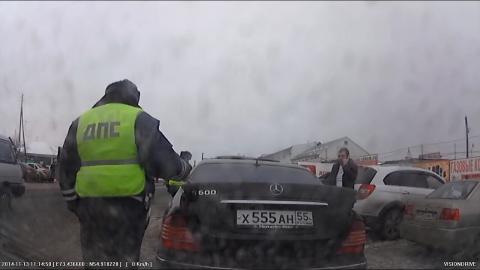 Омские полицейские обнаружили иномарку с поддельными номерами