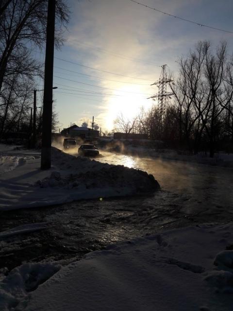 Очередная коммунальная авария произошла в Октябрьском округе Омска