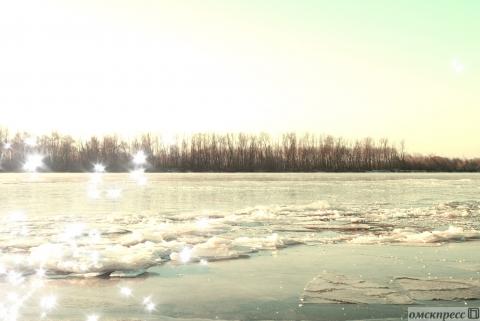 Иртыш покрылся первым льдом