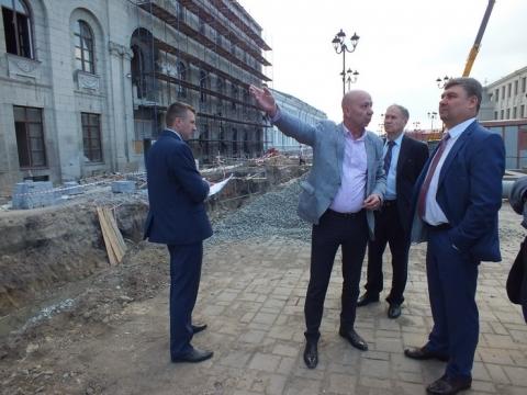 Инспекция процесса реконструкции здания «Эрмитаж-Сибирь»