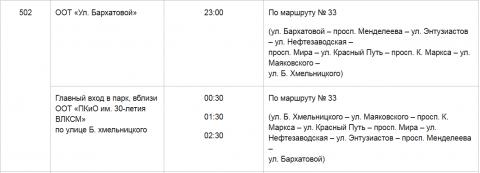 Мэрия Омска опубликовала расписание автобусов в новогоднюю ночь