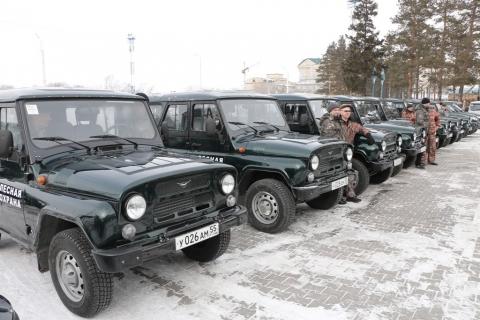 Омские лесники получили новые автомобили